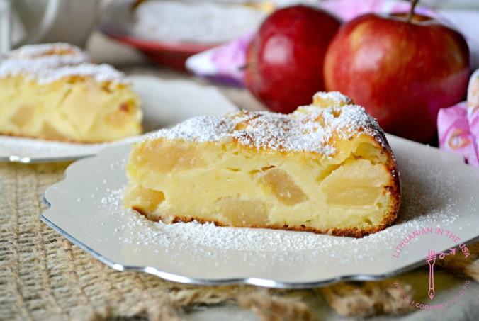 Obuoliu pyragas su naturaliu jogurtu (4) 1